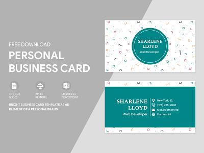 Personal Business Card Free Google Docs Template print printing green personal visiting visit docs cards card business templates template google freebie free doc design