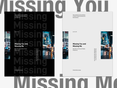 Missing You and Missing Me - an eBook Cover