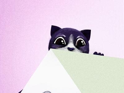 Cat illustration paint drawing photoshop design cat