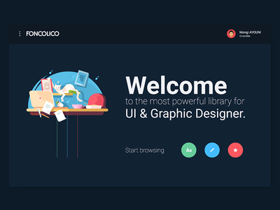 FONCOLICO - Landing Page ux user interface user experience uitrends ui tunisia mongi ayouni icons gmarellile fonts colors