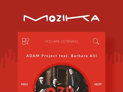 MOZIKA Player algeria tunisia gmarellile mongi ayouni mobile app android ios music music player ux ui
