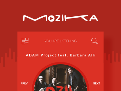 MOZIKA Player algeria tunisia gmarellile mongi ayouni mobile app android ios music music player ux ui