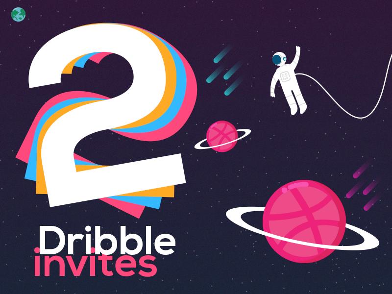 2 Dribbble Invites welcome giveaway invitation invite dribbbleinvites