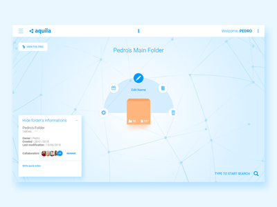 Aquila - 3D Files Navigator blue design tunisie tunisia ux design web design xd navigation user experience ui ux