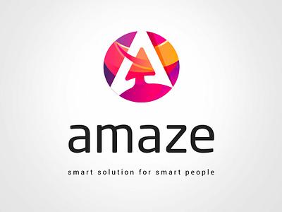Amaze logo & Branding identity design color graphic  design identity logotype logo branding