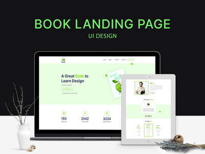 E-book Landing Page Exploration uidesign