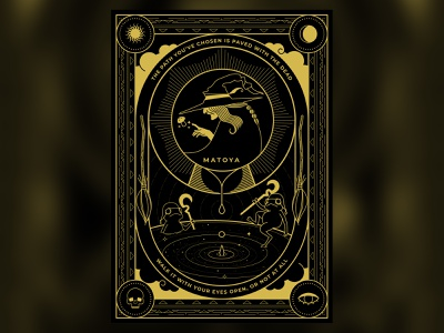 The Master, Matoya ffxiv vector sun stars space skull gold dark black illustration