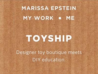Toyship Responsive Header website hero texture cardboard h1 responsive navigation