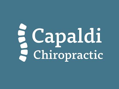 Capaldi Chiropractic  spine chiropractor logo indentity branding blue tisa
