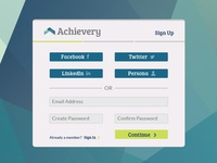 Achievery Sign Up