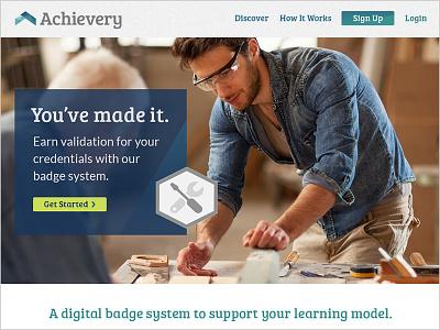 Achievery Marketing Site ui marketing landing page badge hero