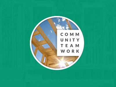 Community Teamwork Logo branding logo photography non-profit