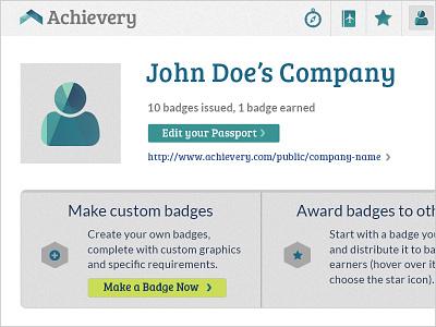 Achievery Profile UI app ui gui button prism badge profile onboarding avatar