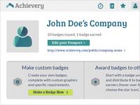 Achievery Profile UI