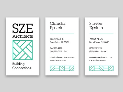 SZE Business Cards branding print vertical line geometric business card slab serif
