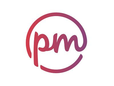 Personal Media - Mark branding logo script gradient emblem personal