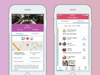 WoM Place Profile, Info & Love Screens