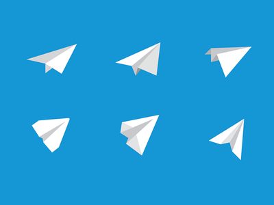 Plane Variations logo icon paper plane paper airplane iterations for days