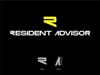 RA type monogram logo monogram concept typography minimal branding symbol mark logo