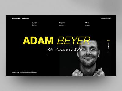 RA web design ux ui webdesign web layout landing concept code visualidentity brand branding webgl