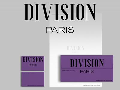 DIVISION visualidentity visual design brand fashion brand fashion apparel logo apparel branding symbol mark logo