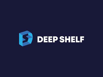 DEEP SHELF flat app ui typography branding symbol mark s d monogram shelves logodesigner logo design logo