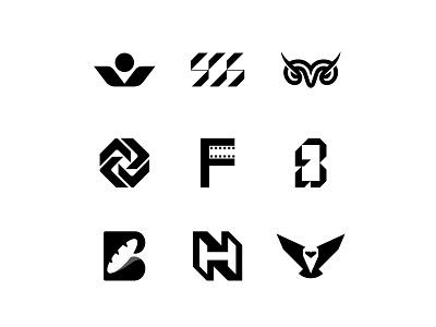 TOP9 negative space negativespace bread owl movie film monogram animal minimal branding symbol mark logo