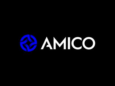 AMICO brand color colorful gradient logo gradient metal illustration icon minimal symbol branding mark logo