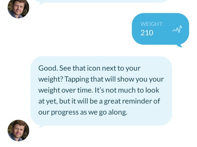 Chatbot health tracker with historical data analytics messages conversation chatbot