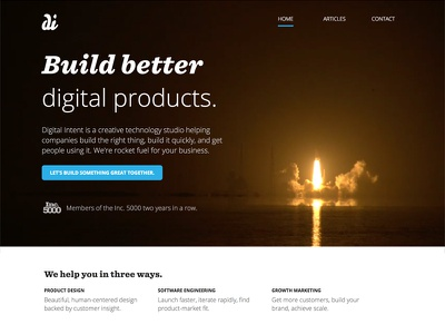 New DI Homepage website webdesign web design home homepage graphic design corporate business ui design agency web