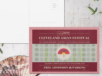 Cleveland Asian Festival postcard asian