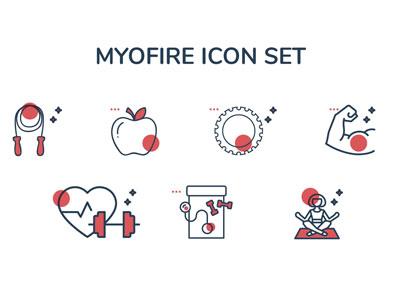 Myofire Icons modern workout icons