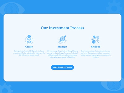 Investment process icon web design process money investment