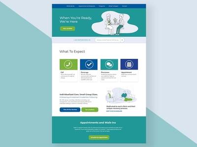 Prototype design illustration web design