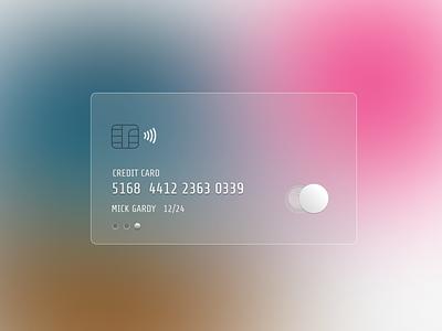 Semi Digital Transparent Credit Card minimalism clean ui creditcard