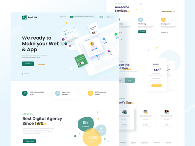 Digital  Agency Web UI Concept minimal app designer dashboard website desigining website designer product designer designer dribbble color best shot typography trendy uiuxdesign ux ui web webiste design agency landing page web agency digital agency