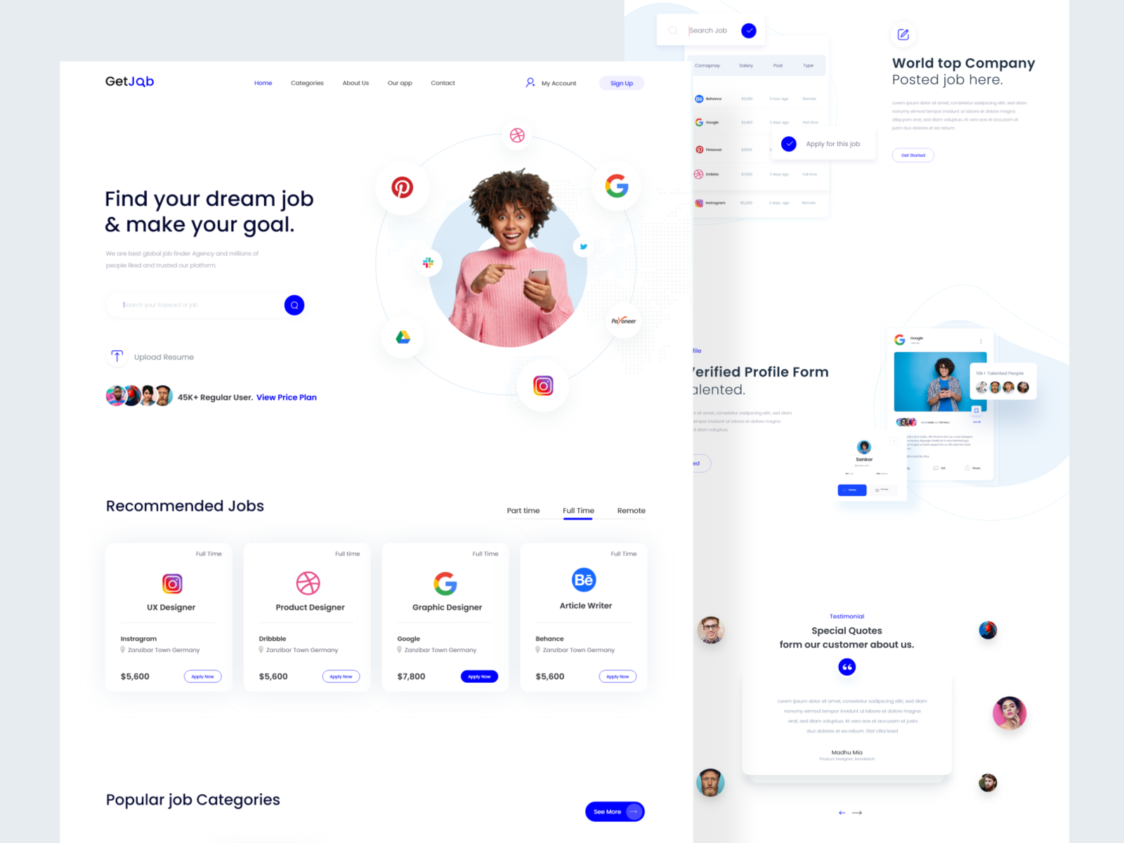Job Finder Web Exploration By Madhu Mia For Isketch Studio On Dribbble