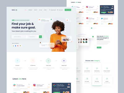 Job Finder Web Exploration search homepage landingpage minimalist typogaphy madhu mia visual design website designer popular shot dribbble best shot branding ui ui ux web design application job list job board job job seekers job finder website