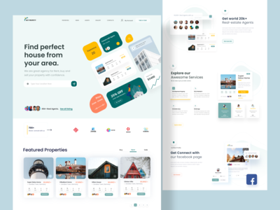 Real Estate Web Exploration app product design designer madhu mia clean design property search find home trendy dribbble best shot architecture populer shot landing page ux ui web listing realestate agency property real estate