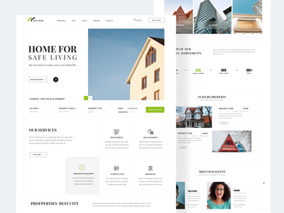 Real Estate Web Design Exploration minimalist typography ux ui madhu mia designer trendy dribbble best shot pupuler shot home page landing page architecture home booking search property app web realestate real estate agency