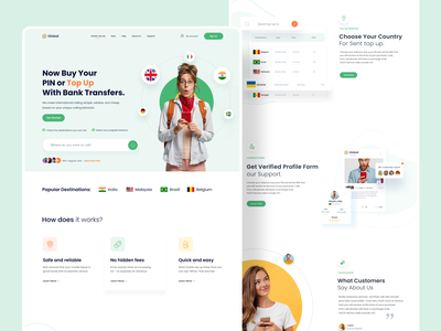 Call  Service Web Exploration trending design product designer ecommmerce app call center app figmadesign popular shot dribbble best shot madhu mia trendy uiux call service designer landing page website internation call phone call service call center