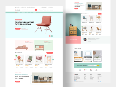 Furniture Store Web Design clean ui visual design ux ui product designs product page ecommerce shop ecommerce website design store landing page madhu mia dribbble best shot popular shot minimal website furniture furniture app furniture store furniture website