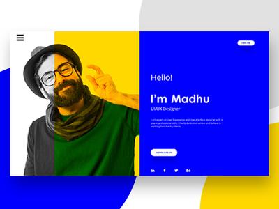 It's Me Portfolio Web Page Design