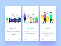 Startup business App Onboarding Illustration