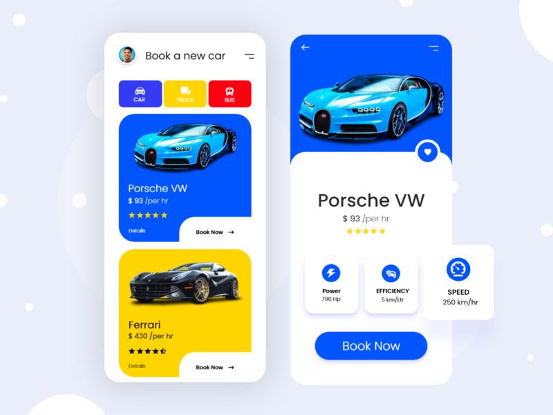 Car rent app UI concept rent mobile ios rent car app ui ux madhu mia app design booking app car