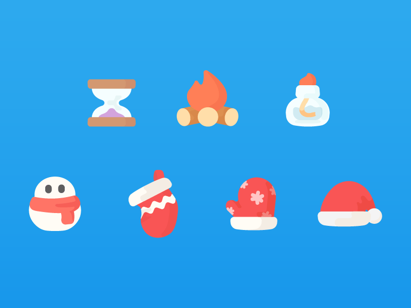 Onion Math Icons hourglass lamp alcohol bonfire socks christmas hat gloves snowman icon