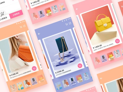 E-Commerce App-Event Cards cards interaction app clothing e-commerce fashion material mobile shop shopping ui gif