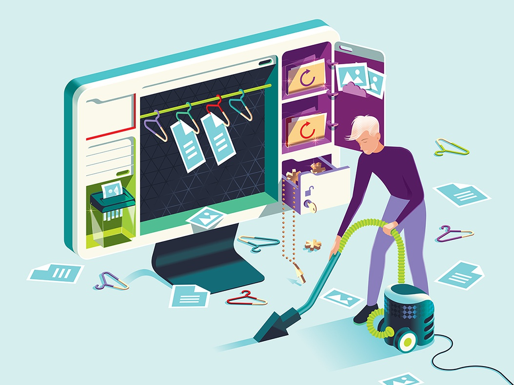 Which? Computing – Get your data house in order folders cupboard wardrobe organise pc desktop hoover tidy clean data