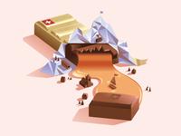 Caramel chocolate in Vevey, Switzerland 🇨🇭