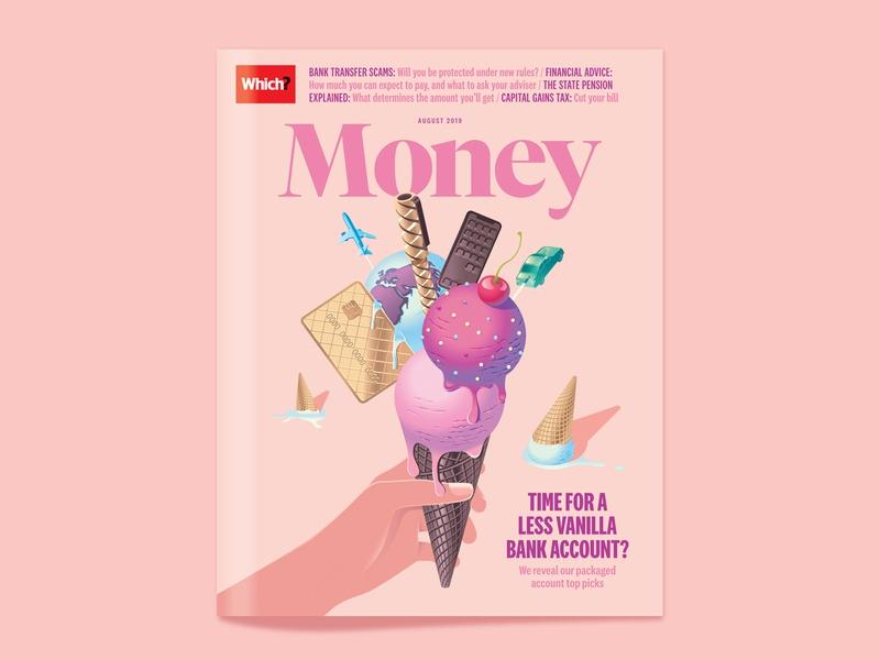 Which? Money – Bank account upgrades 🍦 fancy cream ice insurance phone pen vanilla summer chocolate bank banking cone icecream